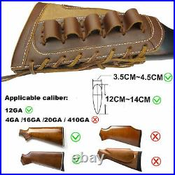12GA 1 Set Leather Canvas Gun Ammo Buttstock + Matched Sling USA Stock