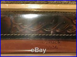 1990 HUNTER Leather Deer Head Tooled Rifle Sling + Hand Loop/Swivels No 27-025