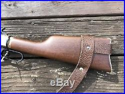 1 1/2 Wide NO DRILL Rifle Sling For Henry Rifles. Brown Leather