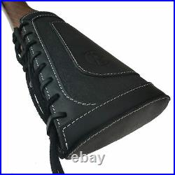 1 Sets Leather Gun Shell Holder Buttstock with Rifle Sling for. 30-30.308.30-06