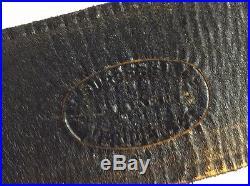 2 F. Burgess & co Maker Meridan CT. BLACK leather rifle gun sling SHOULDER STRAP