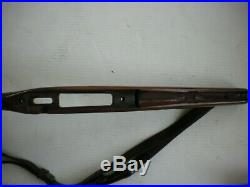 31 1/2 Walnut Gunstock with Leather Sling Winchester Model 70 Pre 64