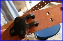 49 1.25 Vtg Topgrain Rifle Gun Sling Leather Garand