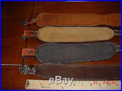 4 Leather Gun Rifle Sling Adjustable with Swivels Hunter Torel Padded Deer Scene
