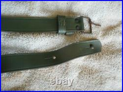 Argentine model 1891 mauser rifle green leather sling w buckle nice condition