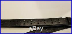 BLACK M1907 Turner Saddlery National Match Leather Rifle Sling 56 Pre-Owned