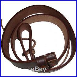 BRITISH WWI & WWII LEE ENFIELD SMLE LEATHER RIFLE SLING (LOT of 5)