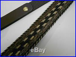 BROWNING HORSE HAIR & LEATHER RIFLE SLING TIMBER WITH SWIVELS