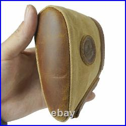 Beautifully Stiching Genuine Leather Recoil Pad Buttstock and Matching Gun Sling