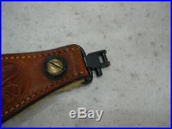 Bianchi Cobra Brown Tooled Leather Gun / Rifle Sling