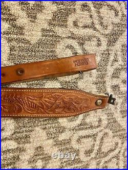 Bianchi Cobra Vintage Leather Rifle Sling With Swivels