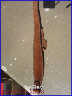 Bianchi Leather Cobra 65 Rifle / Shotgun Sling, Swivels & Pouch BASKETWEAVE