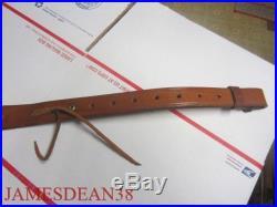 Bianchi Leather Cobra Rifle / Shotgun Sling, Swivels & Pouch BASKETWEAVE