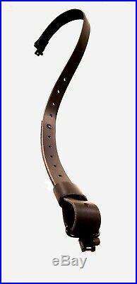 Black Buffalo Leather Rifle Sling with Black Hardware-The Black-on-Black
