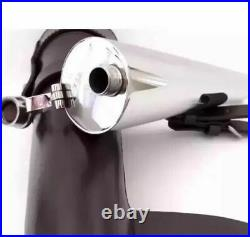 Black Horse Saddle Hip Flask Leather Case Stainless Steel Bottle Gift Hunting