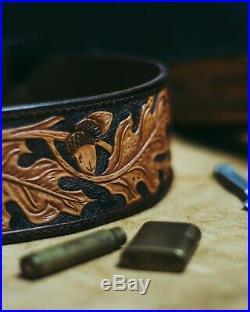 Brand New Handmade Hand Leather Rifle Sling Shoulder Strap