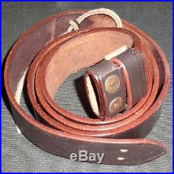 British WWI & WWII Lee Enfield SMLE Leather Rifle Sling 5 Units AS859