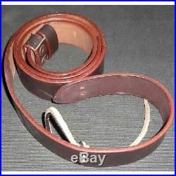 British WWI & WWII Lee Enfield SMLE Leather Rifle Sling 5 Units nf887
