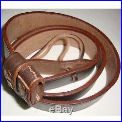 British WWI & WWII Lee Enfield SMLE Leather Rifle Sling 5 Units uA979