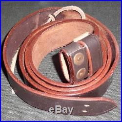 British WWI & WWII Lee Enfield SMLE Leather Rifle Sling 5 Units xc32593