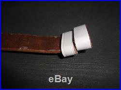British WWI & WWII Lee Enfield SMLE Leather Rifle Sling WHITE Reproduction Jx715