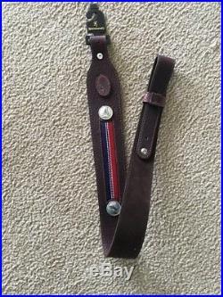 Browning Americana Sling Brown Bison Leather Rifle Adjustable 122615 #10665