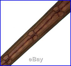 Browning Leather Barbed Wire Rifle / Shotgun Sling Full Grain Leather 122604 New