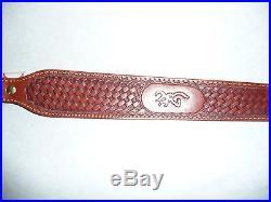 Browning Leather Basketweave Rifle Sling
