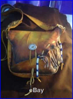 Buffalo or Elk Leather Black Powder Possibles Bag & Rifle Sling Set