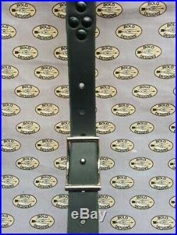 Chevron tooled leather rifle sling