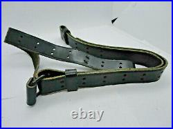 Colt, marked, Vintage Black Leather Rifle Sling, good condition, Rare
