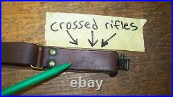 Crossed Rifles leather military sling