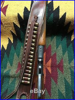 Custom leather Bandoleer style ammo sling Made in the good ole USA