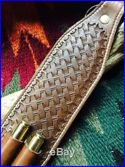 Custom leather cobra style Rifle sling Made int he USA with pride! Heavy duty