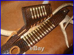 Custom leather sling stock wrap Made in the USA Marlin 1895 45-70