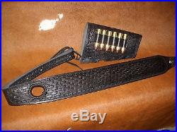 Custom leather sling stock wrap for a Marlin model 336 35 Rem