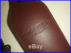Dark Brown Leather & Padded Suede Wide Cobra Huntign Rifle Sling & Metal Swivels