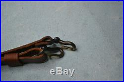 English sporting rifle Vintage Original Hook with thin leather sling used