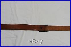 Factory Marlin Horse Rider logo 1 leather rifle sling blue steel buckle swivel