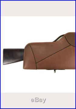 Furat Rifle cases gun slip scope cover soft padded genuine leather vintage