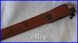 Genuine Marlin Leather Rifle Sling Horse & Rider + Uncle Mike's End Clips