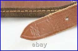 German Vintage Hunting Lined Leather Sling Broad Large Luxury AKAH