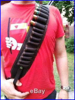 Gun Sling for Rifle or Shotgun, Hand Made Leather, Hunting rifle sling