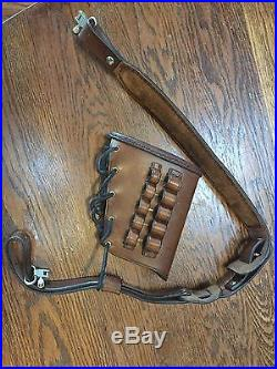 Hand Made Leather Custom Rifle Sling With Butt Guard. 45-70 Marlin
