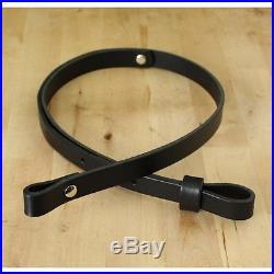 Handmade 1 Leather Rifle Gun Sling Adjustable 30 to 36_Black_FREE SHIPPING