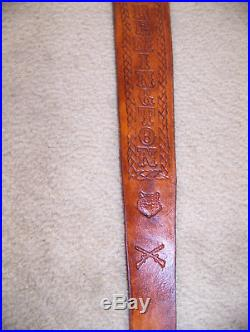 Handmade One of a Kind Remington Western Rifle Sling Tooled in American