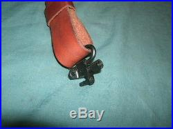 Hunter Leather padded rifle sling with swivels ready to install whitetail deer