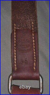 J h heiser 1950s M1 Garand M1907 Hunter Leather Rifle Sling Springfield 1903