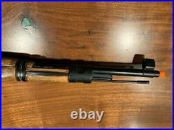 Kar 98k Real Wood Bolt Action Spring Airsoft Rife With Authentic Leather Sling