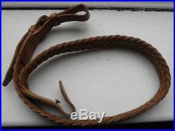 Kassnar Plaited Air Rifle Leather Sling Original Vintage Quality